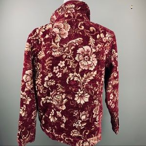 Denim & Co Red Chenille Tapestry Jacket XL
